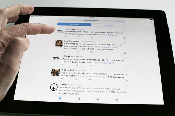 Gegen Hetze im Internet richtet sich der Appell der Landesanstalt für Medien NRW.