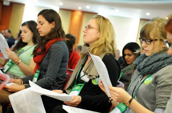 Delegierte der 10. ÖRK-Vollversammlung in Busan. Foto: ÖRK