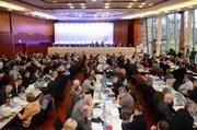 Plenarsitzung während der Landessynode