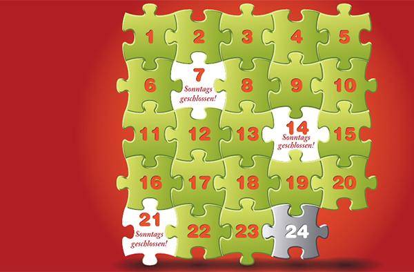 Mit freien Sonntagen wird der Advent vollständig: Grafik der 'Allianz für den freien Sonntag'.