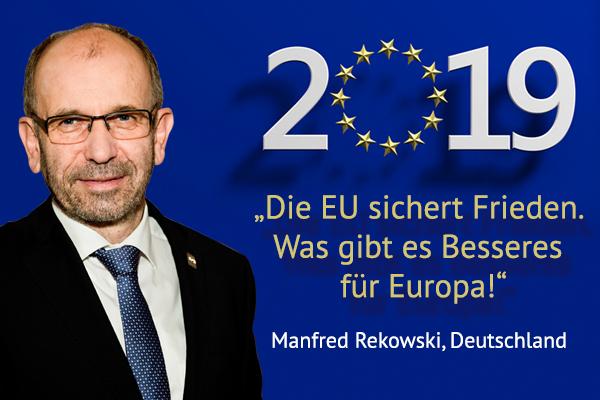 Jeden Tag bis zur Europawahl 2019 eine neue Stimme. Heute: Manfred Rekowski aus Deutschland.