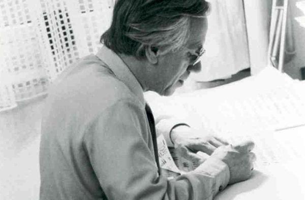 Prof. Kurt Wolff (1916-2003) war fünf Jahrzehnte der Leiter der Paramentik-Werkstatt in Kaiserswerth.