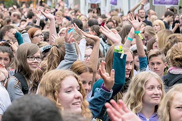 Teilnehmende des Jugendcamps in Siegburg. Foto: Meike Böschemeyer