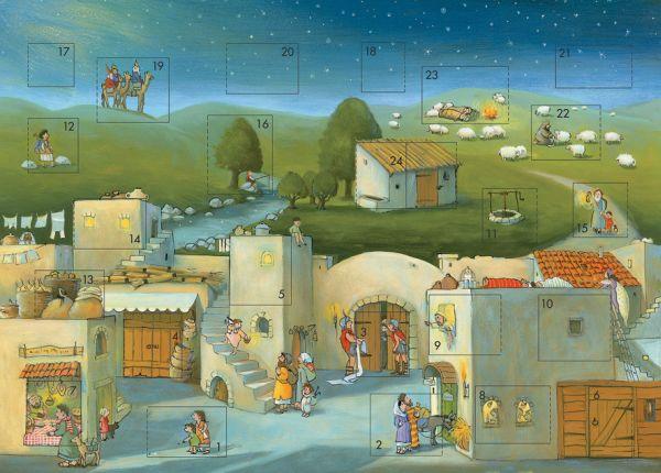 Biblischer Adventskalender 'Komm mit uns nach Betlehem' von Marijke ten Cate, erschienen bei der Deutschen Bbelgesellschaft.