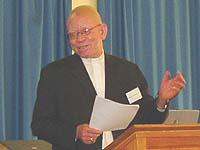 Die Entschuldigung ohne Wenn und Aber angenommen: Bischof Dr. Zephania Kameeta.