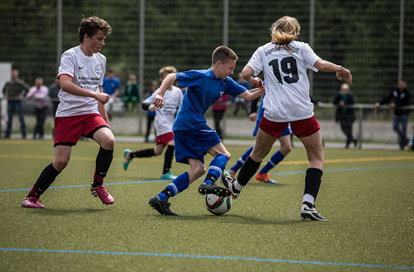 Super eingesetzt: das Team aus Rheydt im EKD-KonfiCup-Finale.