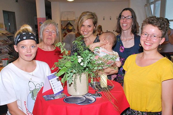 Sie haben beim ersten Rheinischen Tag der Nachhaltigkeit Ideen ausgetauscht: (v.l.) Chantal Reiher, Elke Picht, Anna-Lina Becker, Ariane Stedtfeld und Esther Klingenberg.