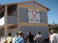 HIV- und Aids-Aufklärung: Mahnung an der Junior Primary School in Maltahöhe.