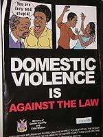 Plakat gegen häusliche Gewalt