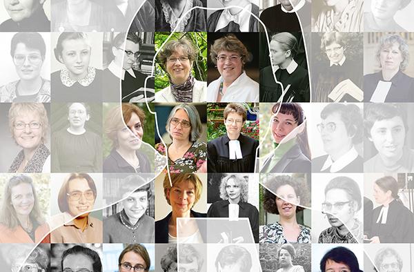 Ausschnitt aus der Titeltafel zur Ausstellung 'Pionierinnen im Pfarramt'.