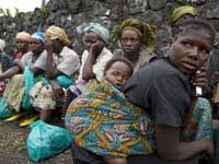 Flüchtlinge in Goma, der Hauptstadt der Provinz Nord-Kivu (Demokratische Republik Kongo).