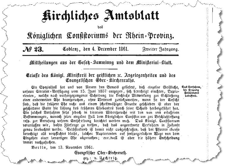 Kirchliches Amtsblatt 1861