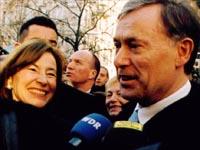 Bundespräsident Köhler auf dem Bonner Weihnachtsmarkt