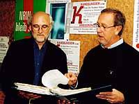 Organisieren die Kanzelreden: Theurich und von Dobbeler.