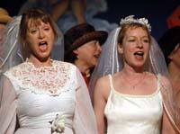 Schön lachen, anspruchsvoll lachen, beglückt singen: Chormitglieder aus der Kölner Südstadt.