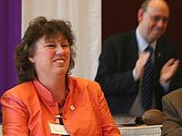 Als Leiterin der Abteilung 2 wiedergewählt: Vizepräses Petra Bosse-Huber.