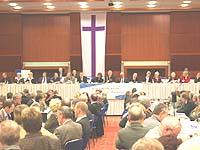 Oberstes Leitungsgremium der rheinischen Kirche: die Landessynode. (Archivfoto)