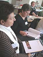 In Arbeitsgruppen besprachen die Delegierten Details, wie die Kampagne auf der Basisebene umgesetzt werden kann.