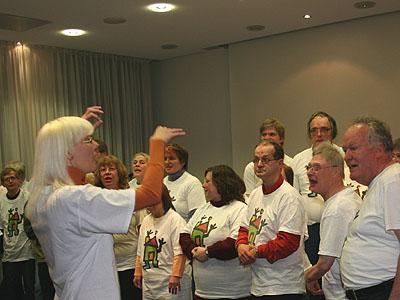 Die Essener Gottesdienstgruppe liebt das gemeinsame Singen.