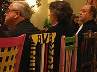 Auf besagten Stühlen (v.r.): Präses Nikolaus Schneider, Vizepräses Petra Bosse-Huber und Vizepräsident Christian Drägert.