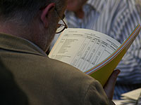 Einstimmig beschlossen: Der landeskirchliche Haushaltsplan.