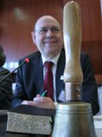 Die Landessynode 2009 hat zahlreiche Beschlüsse gefasst, die Verhandlungen leitete zumeist Präses Nikolaus Schneider.