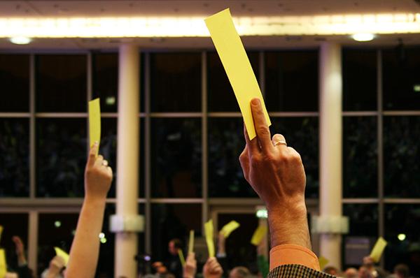 Abstimmung nach langer Beratung