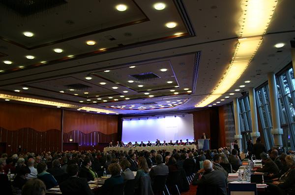 Blick ins Plenum der Landessynode 2014 am Freitagmorgen.