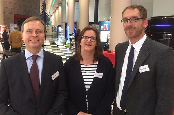 In den Rat der EKD gewählt (v.l.): Thomas Rachel, Kerstin Griese und Jacob Joussen. Foto: Jens Peter Iven