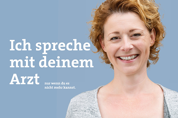 'Würde-Bewahrer': Auch mit Plakaten machen die Betreuungsvereine der Diakonie RWL auf ihre vielfältige Arbeit aufmerksam.