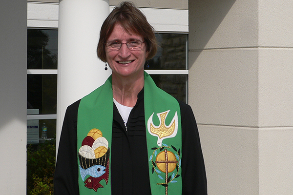 Pfarrerin Sigrid Rother leitet die UCC-Gemeinde in Westerville, Ohio.