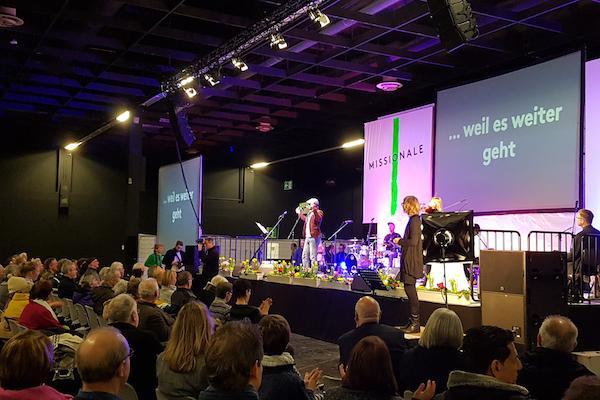 """""""… weil es weitergeht"""" – war das Motto der diesjährigen Missionale in Köln."""