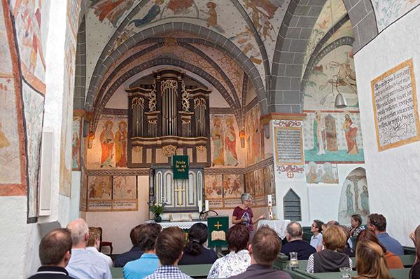Eine der 'Bonten Kerken': Die evangelische Kirche in Lieberhausen.