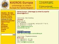 Homepage von Kairos Europa