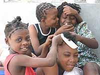 Aufatmen im Schutzfhaus in Port-au-Prince: Restavèks in Haiti kommt die Kollekte des Schlussgottesdienstes des Kirchentags in Köln zugute.