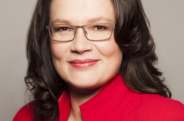 Bundesarbeitsministerin Andrea Nahles. Foto: BMAS/Knoll