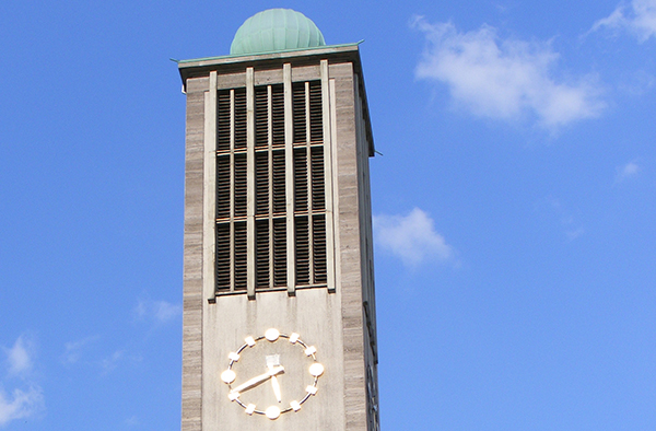 Der Turm der Stadtkirche Solingen.