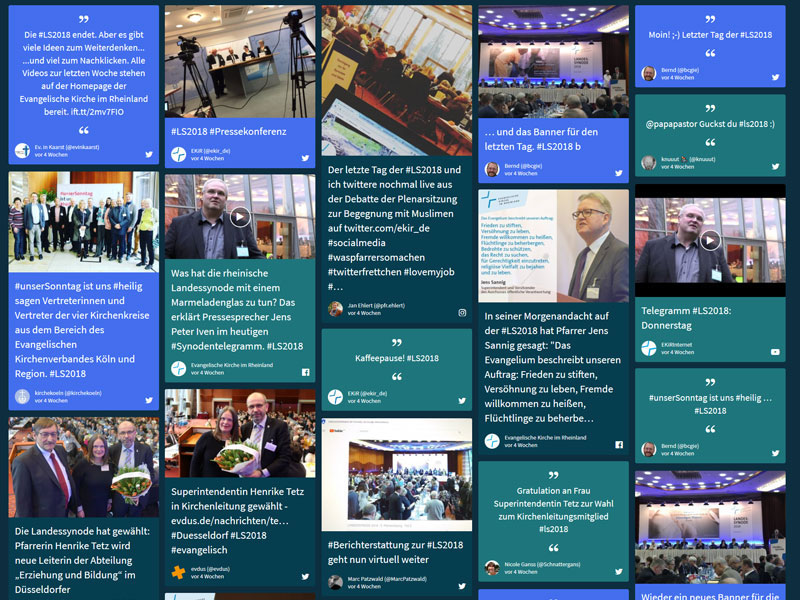 Social-Media-Wall #LS2018